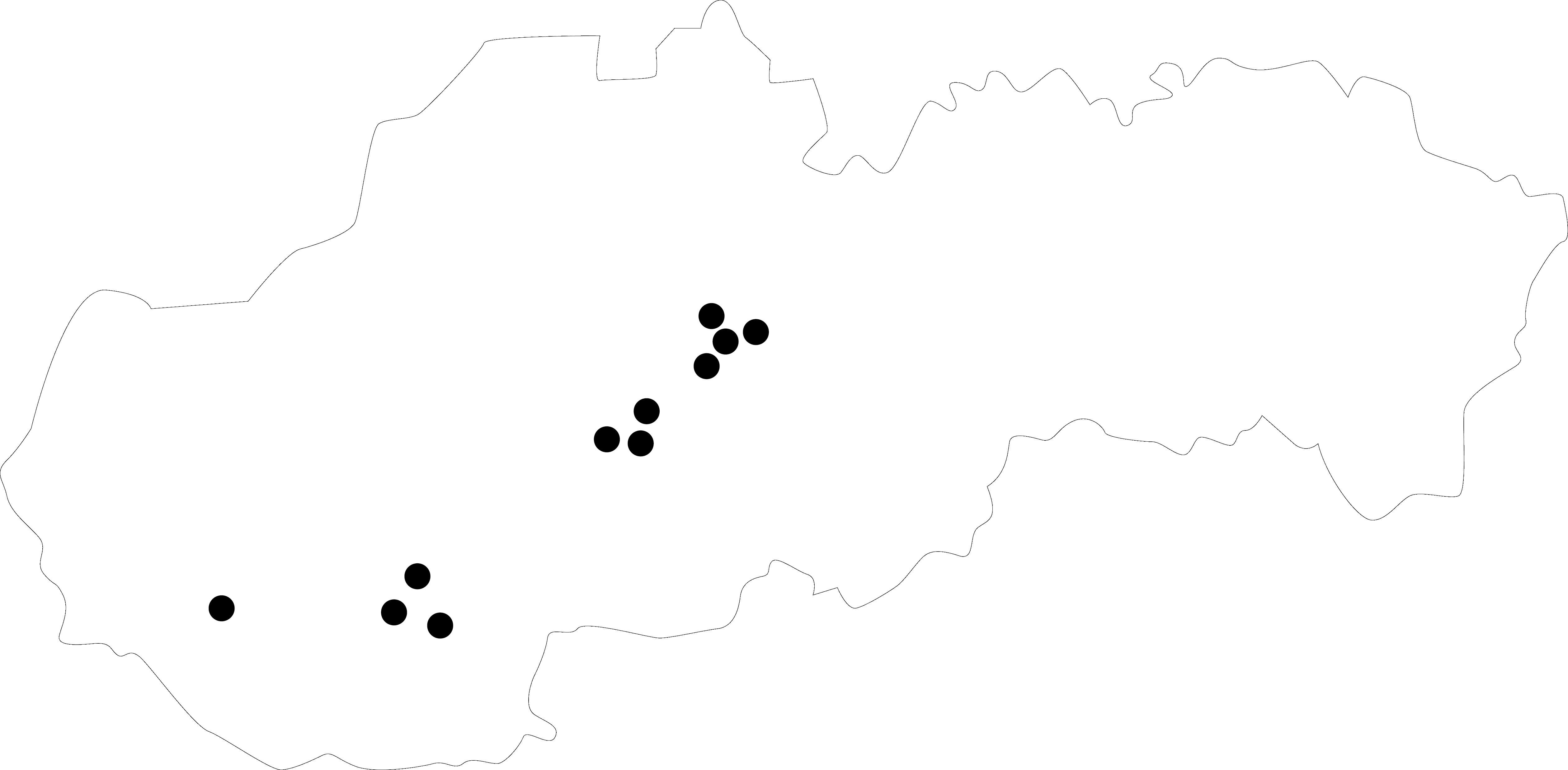 mapka slovensko